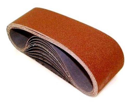 United Abrasives- SAIT 58165 Open Coat Aluminum Oxide 3-Inch x 21-Inch AO-X 80 Grit Sanding Belt 10-Pack