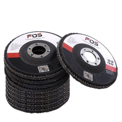 Pack 10 Flap Sanding Grinding Disc Angle Grinder Wheels 4 12 80 Grit