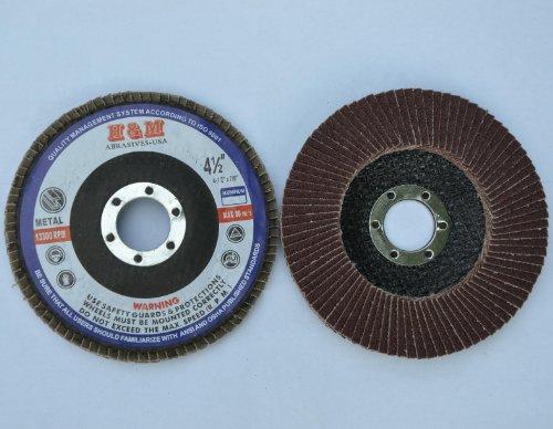 10pcs Premium FLAP DISCS 4-12 x 78 AO 80 grit Sanding Wheel - Type 29