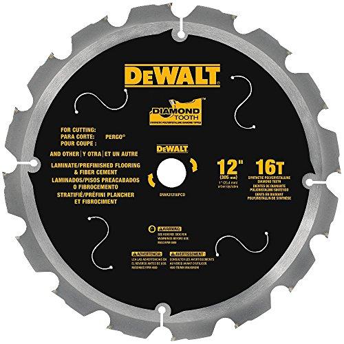 DEWALT DWA31216PCD 16T PCD Tipped Laminate Cutting Blade 12