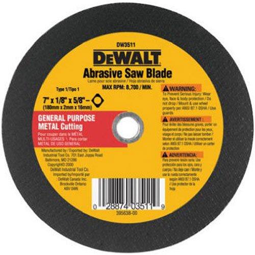 DEWALT DW3511 7-Inch X 18-Inch Metal Abrasive Blade