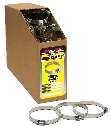 Pro Tie 33857 Heavy Duty All Stainless Bulk Hose Clamps SAE Size 28 Range 1-516-Inch-2-14-Inch Box of 120