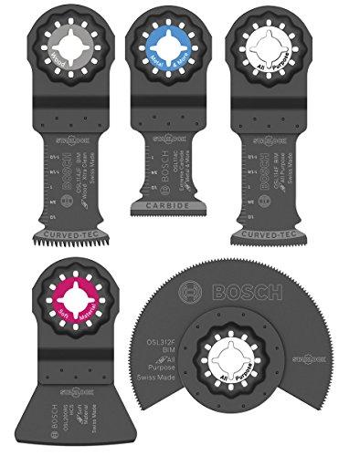 Bosch OSL005C Five-Piece Starlock Oscillating Multi Tool Accessory Set with Case