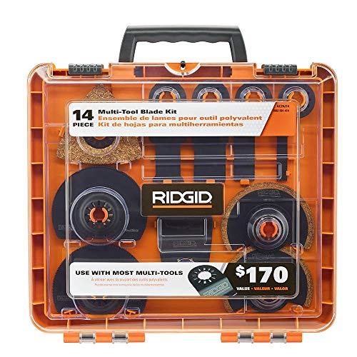 New Ridgid 14 Pc Jobmax Multi-Tool Accessory Cutting Grinding Blade Kit Ac24j14