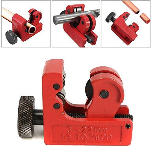 GOCHANGE Mini Tube Cutter Slice Copper Aluminum Tubing Pipe Cutting Tool 3-22mm 18inch-78inch OD