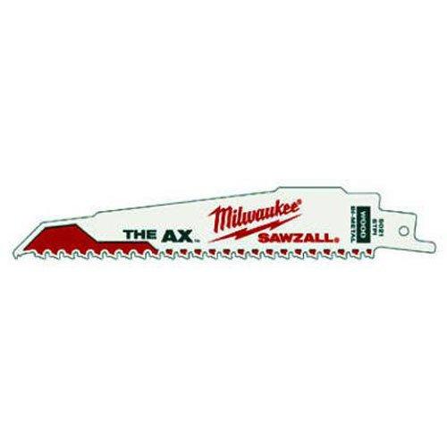 Milwaukee 48-00-5021 The Ax  6-Inch 58 Teeth per Inch Sawzall Blade 5-Pack