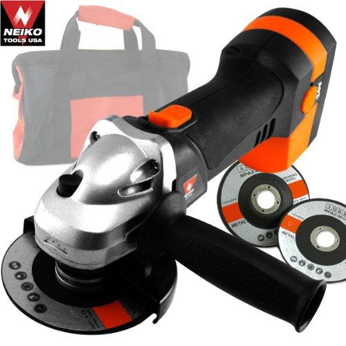 24V 4-12 Cordless Angle Grinder w2 Grinding Wheels