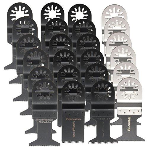 BABAN 24Pcs Oscillating Multi Tool Saw Blade Set For Fein Multimaster Makita Oscillating Metal Saw Blades tool Kit