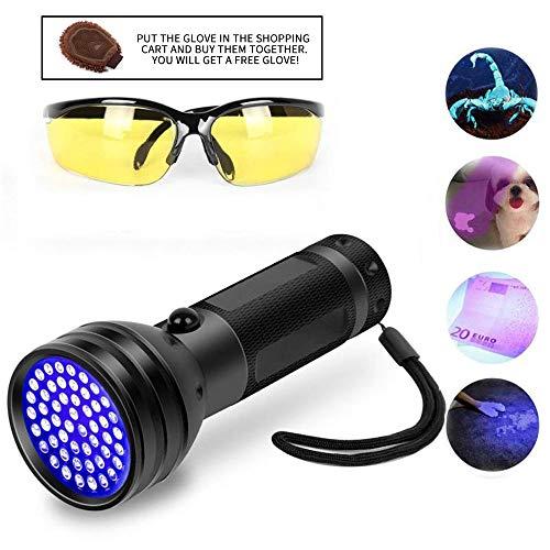 Black Light UV Flashlight 51 LED Ultraviolet Black Light for Urine Detection for Pet Urine
