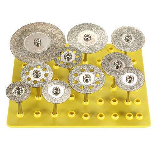 BABAN 10X 18 Diamond Saw Cut Off Discs Wheel Blades Rotary Tool Set Shank for Dremel