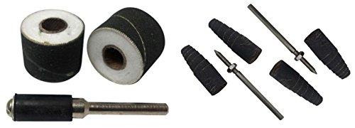 ToolUSA 4 Pc Rotary Tool Sanding Kit  2 Styles