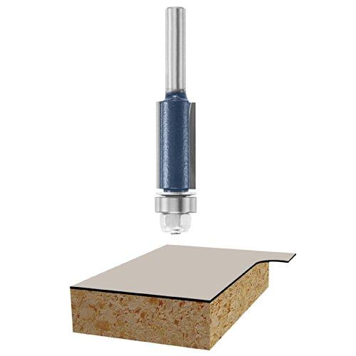 Bosch 85266M 12-Inch Diameter 1-Inch Cut Double Flute Laminate Flush Trim Router Bit 14-Inch Shank With Ball Bearing