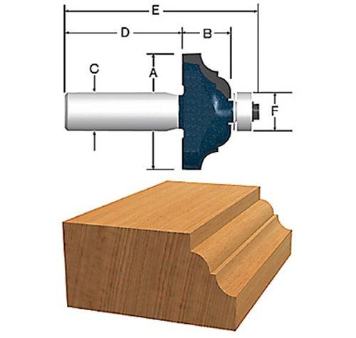Bosch 85581MC 1-12-Inch Diameter 58-Inch Cut Classical Carbide Tipped Router Bit 14-Inch Shank