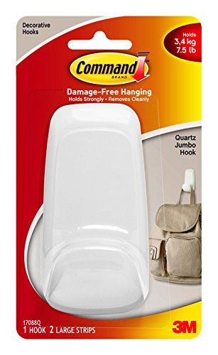 Command Jumbo Hook Quartz  1-Hook 17088Q-ES