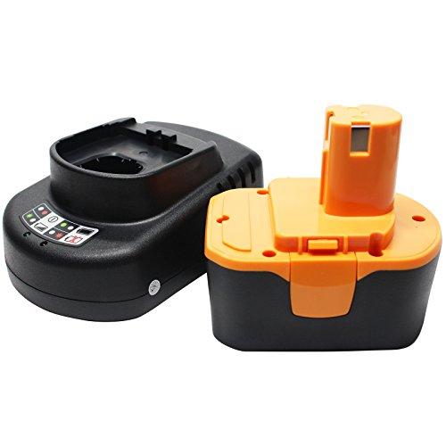 Ryobi 1314702 Battery  Universal Charger for Ryobi Replacement - For Ryobi 144V Power Tool Batteries and Chargers 1300mAh NICD