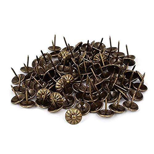 LICTOP Upholstery Tack HammerTrim Nails Thumb Push Pins Nailhead for Decorative Furniture150 Pcs