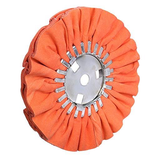 8 Orange Airway Buffing Wheel58 Arbor Hole16 PlysMedium Polishing for Angle Grinder1PC
