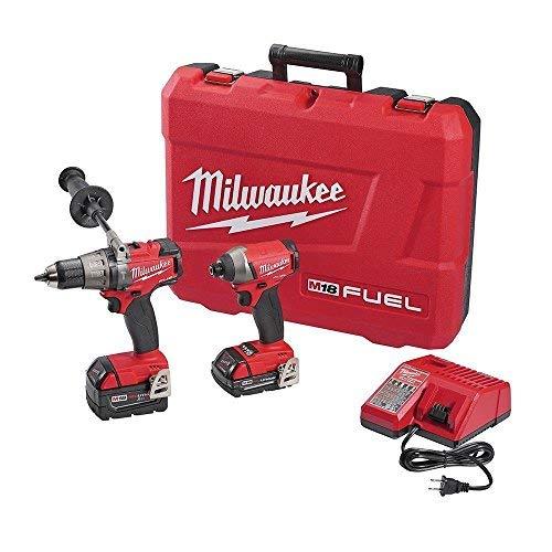 Milwaukee 2897-22CX M18 FUEL 18V Li-Ion Hammer DrillImpact Driver Combo Kit