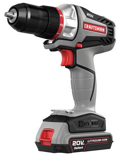 Craftsman -16496 - Bolt-On 20 Volt MAX Lithium Ion DrillDriver Kit