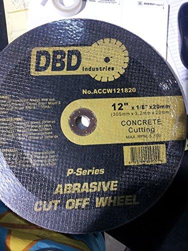 DBD Industries 12 X 18 X 20mm Concrete Cutting P-series Abrasive Cut Off Wheel