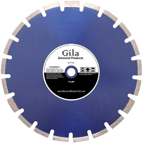 GilaTools 18 Premium Laser Welded Asphalt  Green Concrete Wet Cutting Diamond Saw Blade 1 Arbor