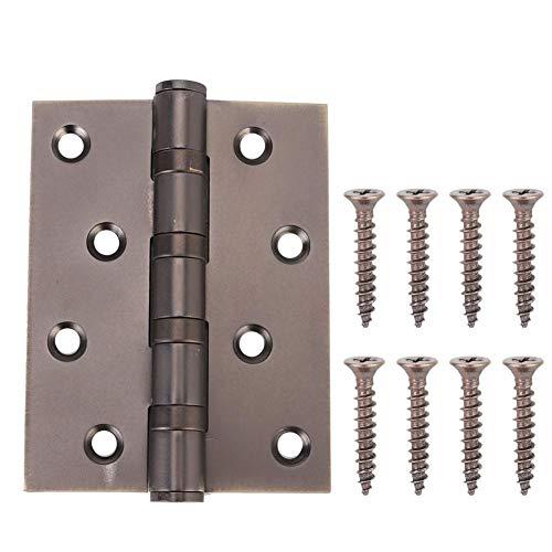 Door Hinges Stainless Steel Bearing Door Flat Folding Spring Hinge With Screws Home Furniture Hardware Door HingeBlack Bronze