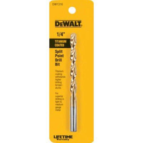 DEWALT DW1316 14-Inch Titanium Split Point Twist Drill Bit