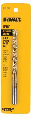 DEWALT DW1320 516-Inch Titanium Split Point Twist Drill Bit