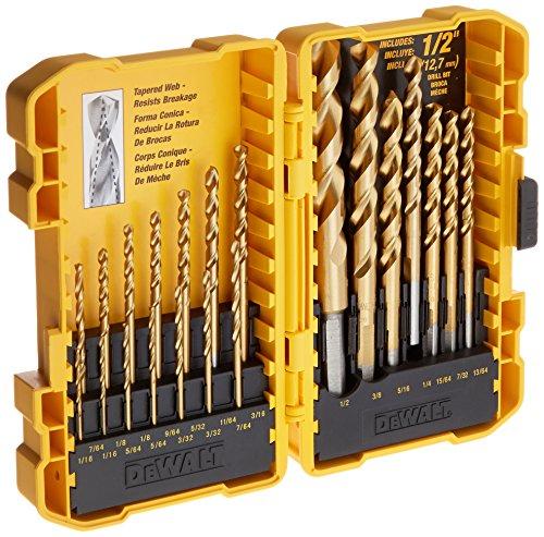 DEWALT DW1342 21Piece Titanium Speed Tip Drill Bit Set