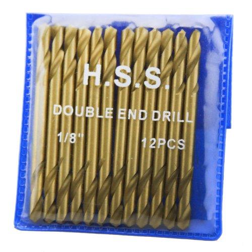 XtremepowerUS 12Pc 18 HSS Double End Titanium Drill Bit HSS DBL Head