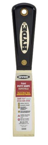 Hyde Tools 02080 125-Inch Stiff Chisel Edge Putty Knife Brass
