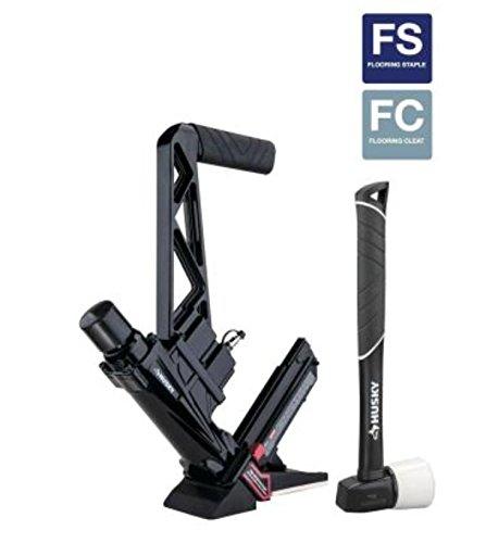 Husky HDUFL50 Pneumatic 3-in-1 16-Gauge Flooring Nailer and Stapler Reconditioned