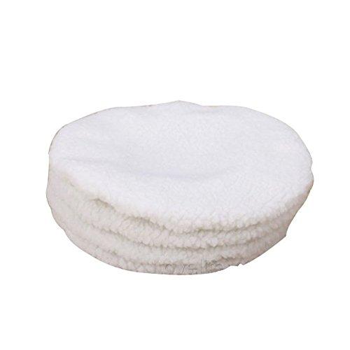 Polishing Bonnets - SODIALR White 4PCS Cars Polisher Buffer Waxer Polishing Bonnet