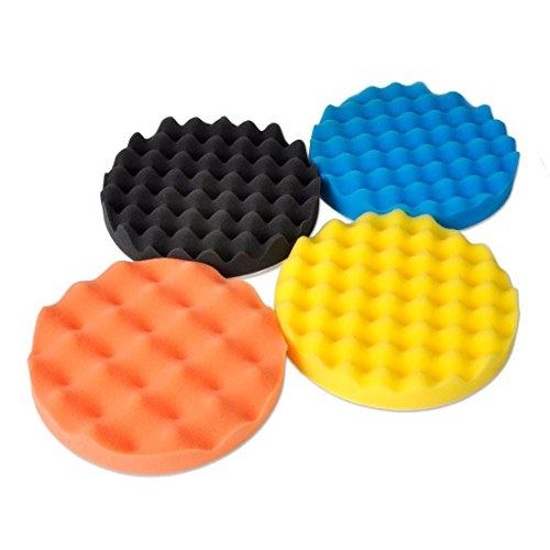 SHINA 4Pcs 6 inch Buffing Polishing Sponge Pads Kit For Car Polisher Buffer