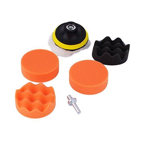 SHINA 7PCS 3 inch Buff Buffing Polishing Sponge Pad Kit for Car Polisher Buffer 02