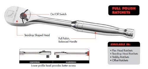GearWrench 81012 14-Inch Drive Full Polish Flex Head Ratchet