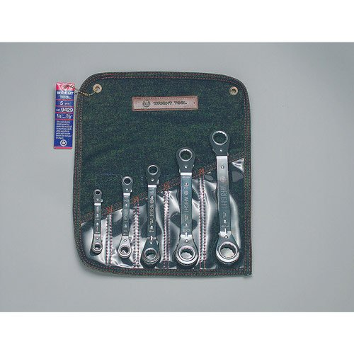 Wright Tool 9429 5 Pc Ratcheting Box Wrench Set 14-78