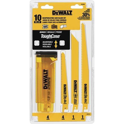 DEWALT DW4898 Bi-Metal Reciprocating Saw Blade Set with Case 10-Piece