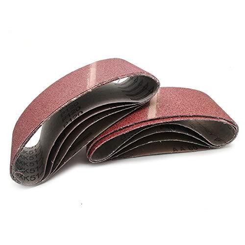 Mimhooy 3 x 18 Inch Aluminum Oxide Sanding Belts 406080120 Grits Sandpaper Assorted for Portable Belt Sander 8Pack