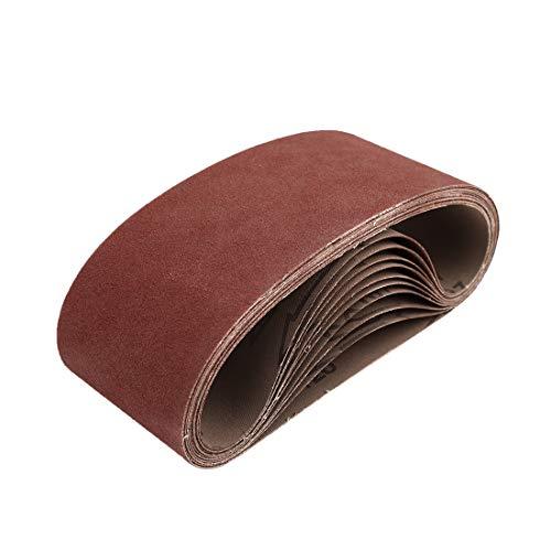 uxcell 3 x 18 Inch Sanding Belts 120 Grit Aluminum Oxide Sanding Belt Sandpaper for Portable Belt Sander 10 Pcs