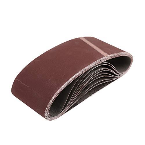 uxcell 3 x 18 Inch Sanding Belts 600 Grit Aluminum Oxide Sanding Belt Sandpaper for Portable Belt Sander 10 Pcs