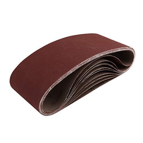 uxcell 4 x 24 Inch Sanding Belts 180 Grit Aluminum Oxide Sanding Belt Sandpaper for Portable Belt Sander 10 Pcs