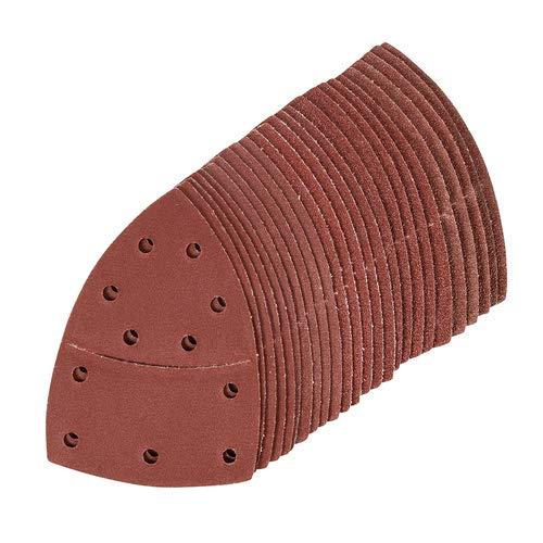 Hook Loop Multi-Sander Sheets 102mm x 62mm 93mm 25pk 5mm x 40 60 80 120 180 Grit Aluminium