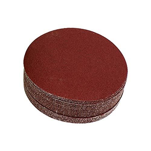 Joyfeel 40 pieces Grinding wheels abrasive paper sanding papers Sanding papers Eccentric sanders Grit for orbital sandersmulti-sanders to sandingpolishing 125 240 120mm red