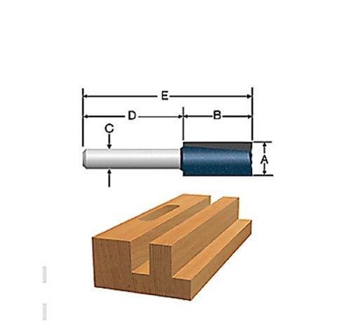 Bosch 85241M 38 In x 1 In Carbide Tipped 2-Flute Straight Bit