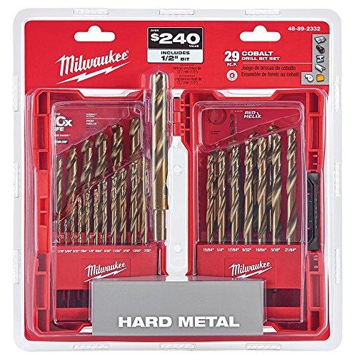 Milwaukee Electric Tools 48-89-2332 29Pc Cobalt Helix Drill Bit Set Red