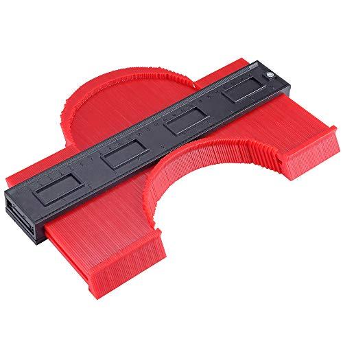 Contour Gauge Irregular Profile Gauge Duplicator Tiling Laminate Tiles Edge Shaping Wood Measure Ruler Plastic Woodworking Tools Profile Jig Guide 10 Inch