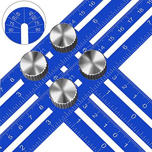 KEGOUU Angle Layout Measuring Ruler Multi Angle Measuring Template ToolAngle Finder Woodworking ToolFlooring Angle Ruler for Handymen Builders Craftsmen DIY-ers Upgraded Aluminum Alloy Ruler