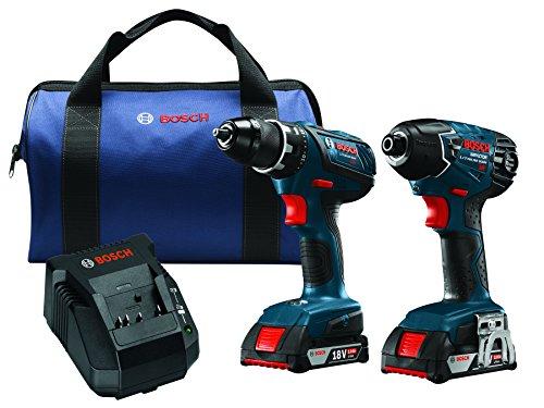 Bosch CLPK232A-181 18V Lithium-Ion Cordless Drill Driver  Impact Combo Kit 20 Ah Batteries