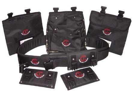 Quick Belt System QBS5 XXLARGE 7-Piece Nylon Modular Utility Tool Belt-Bag-Pouch Combo for Carpenters-Electricians-DIYers-Home Improvement
